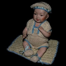 """8"""" All bisque reproduction baby Doll"""