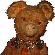 "17"" Golden wool plush Bear"