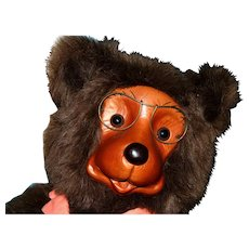 "16"" Robert Raikes wo0den face bear"