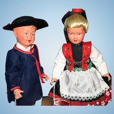 Schmider Trachten Frankfurt Germany regional celluloid dolls tags