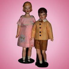 Vintage 1966 Artist dolls Caroline &  John John Kennedy by Anna Mae