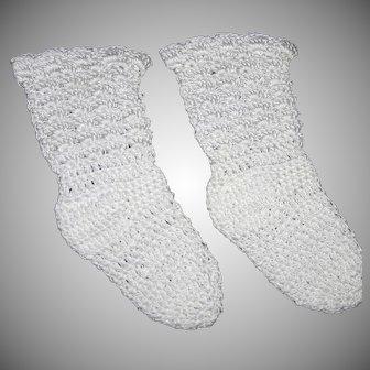 Gorgeous fine crochet Large Doll stockings