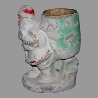 "Large 7"" tall Antique Santa Candy container Mache"