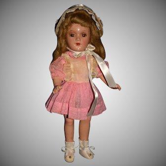 "Vintage 13"" composition Arranbee R & B Debu'teen doll"