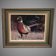 Jim Brown signed artist proof Pheasant