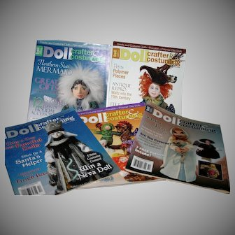 5 Mint uncut Doll Crafter and costuming Magazines