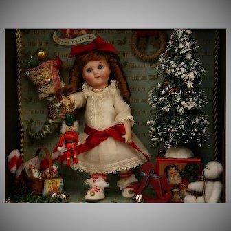 Christmas bisque Googly artist display book