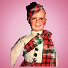 "10"" Scottish bisque head Germany doll"