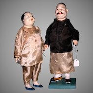 Large Chinese fish monger couple 30-40's