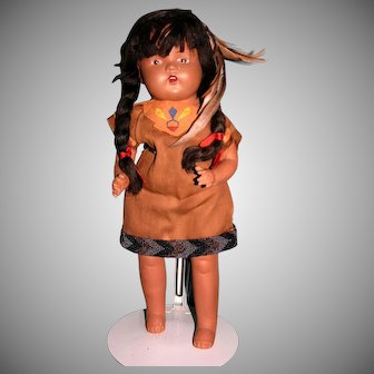 """16"""" Composition Native American Indian doll"""