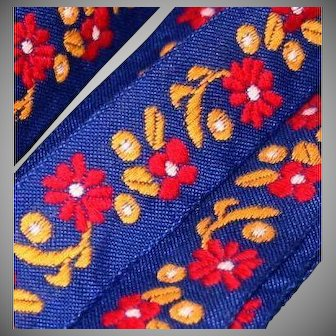 """4 Yds Machine embroidered Floral trim 7/8"""""""