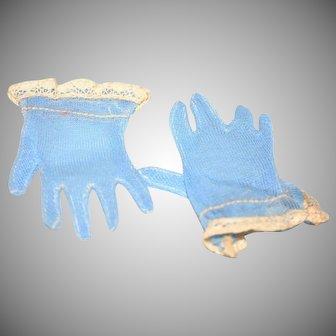 1950's Madame Alexander Cissy blue gloves