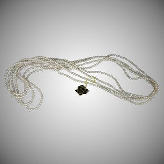 Vintage Laguna faux 4 strand pearls Mint tagged