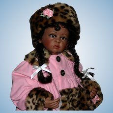 "25"" Artist black bisque Susie doll Gorgeous"
