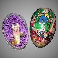 Artist bisque Bunny cupie vintage German egg
