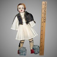 Vintage Cloth Greek male doll regional costume