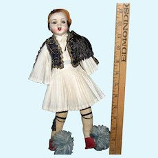 Vintage Cloth Greek male doll regional costume