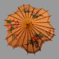Vintage Asian bamboo LG doll umbrella