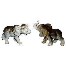 Set vintage bisque Elephants mint 50-60's