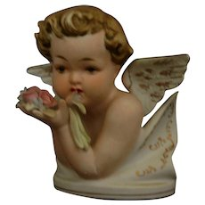 Lefton China Cherub Angel figurine bisque Mint