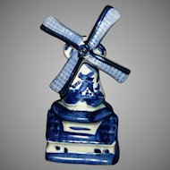 Holland Delft Windmill figurine