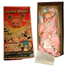 "MIB 13"" Ideal Bonnie Braids with rare Blanket"