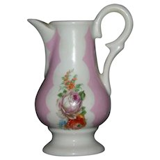 French Limoge petite porcelain  pitcher