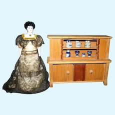Dollhouse sideboard hutch kitchen cabinet