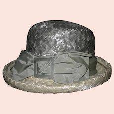 Vintage 1960's Edette straw ladies hat