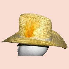 Vintage Yellow Teton Resistol Western Straw hat