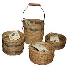 Set of hand woven Artist baskets