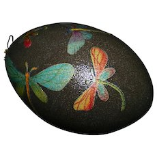 Dragonfly decorated Emu egg