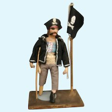 Vintage  Parcraft Pirate papier mache cloth doll