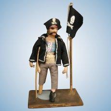 Vintage  Parcraft Pirate papier mache cloth doll