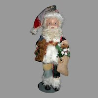 "21"" Composition Santa Crazy quilt costume"