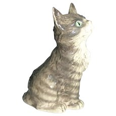 "4.5"" German Goebel Gray tabby cat"
