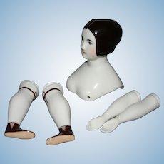"Brown hair LE China doll set ""Lalia"" Medium size"
