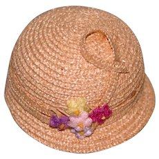 Vintage Cloche Style straw doll hat