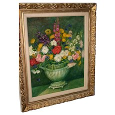 1961 Thomas Pell oil on Canvas floral