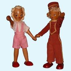 Polish wood jointed dolls