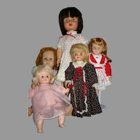 Lot 5 Vintage 1950-60's TLC dolls