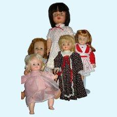 Lot 5 Vintage 1950-60's TLC dolls