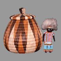 Century Mid African souvenir HP black doll