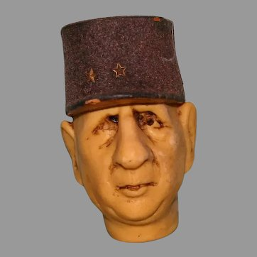 French president Charles De Gaulle Figural Head wine stopper