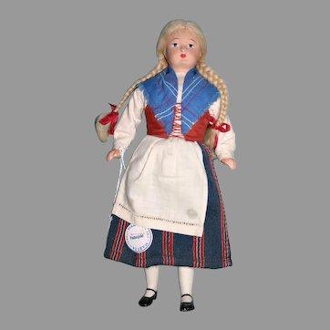 "10"" painted Finland Martta original regional dress"
