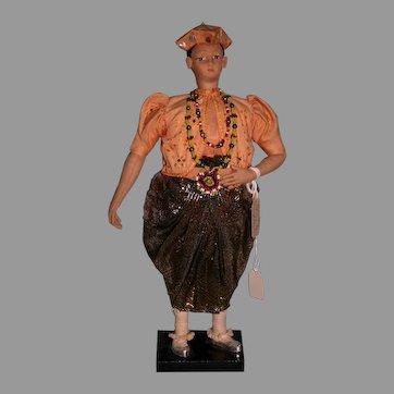 Chief Kandy of Ceylon Museum quality figure