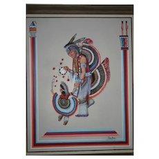 """Oil on canvas Original Navajo """"Grandad's Pride"""""""