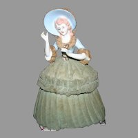 Lace draped half doll trinket & musical