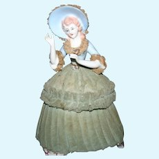 Lace draped half doll trinket & musical