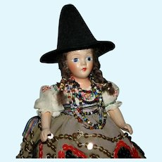 """7"""" MBC jointed composition Beehler arts Latin doll"""